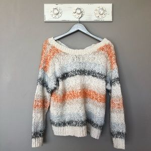 Anthro Meadow Rue | Kennedy Striped Knit Sweater